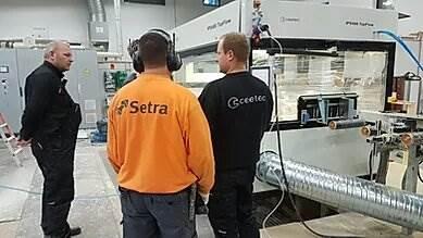 Setra Skutskär – Installation of another Ceetec IPS400 TopFlow in Sweden.