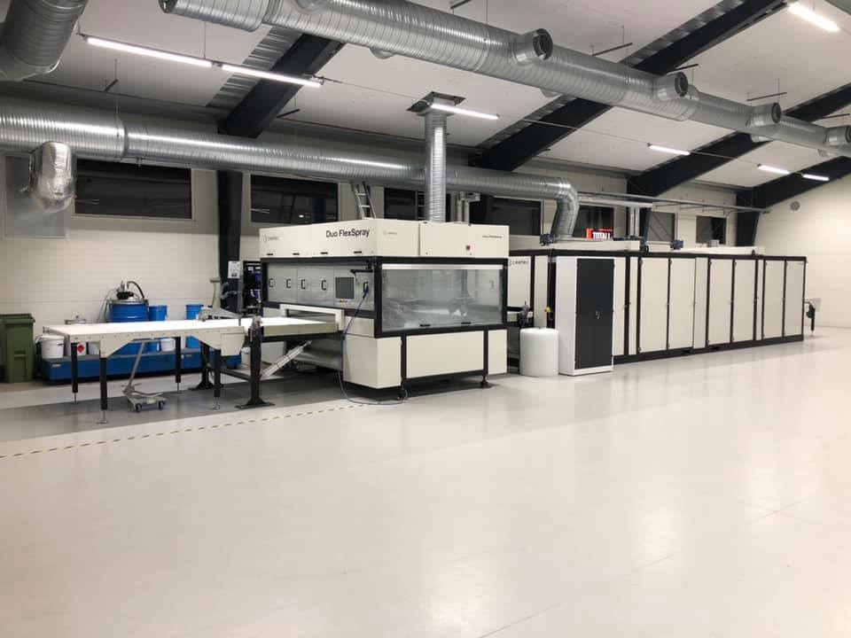 Sydlack, Malmö Sweden – installation of complete painting line